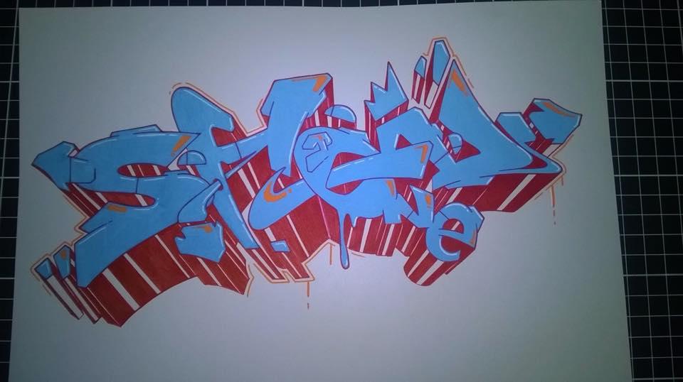 Showone graffiti blue montana