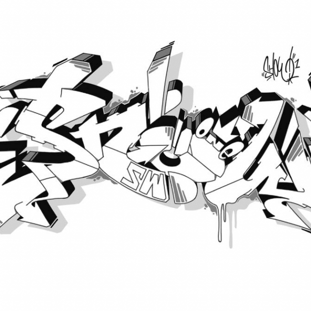 Show1 sketch black and white